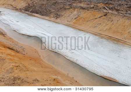 Ice On A Ditch