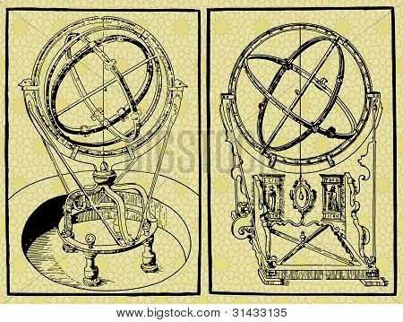 Old astronomical instrument-Armilar Spheres
