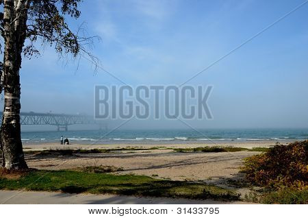 Hidden Bridge Beach Scene