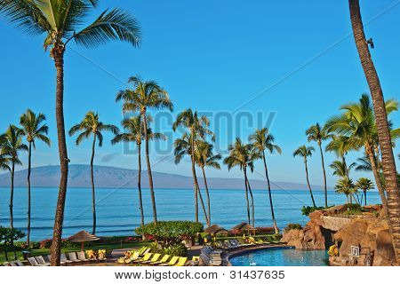 A Hotel Beach In Maui Hawai