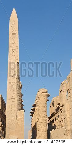 Obelisk At Precinct Of Amun-re In Egypt