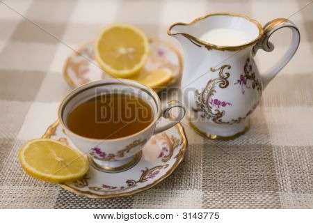 Tea With Lemon And Milk