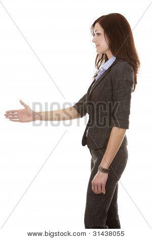 Business Woman Handshake