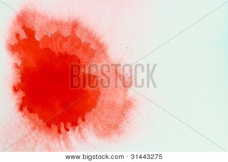 Red  Water Color Paint Texture