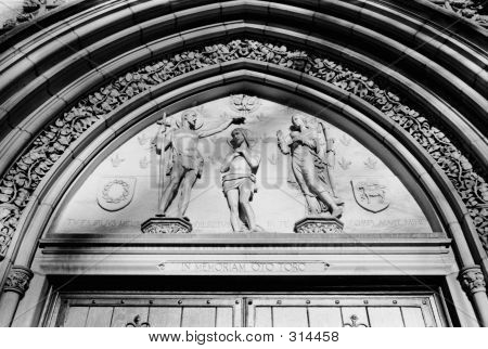 Church Relief Above Door