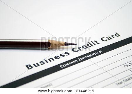 Aplicação do cartão de crédito empresarial
