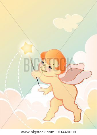 Angel Baby With Wand