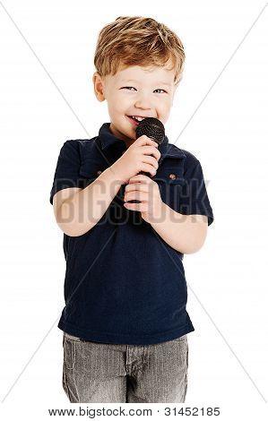 Cute Boy Singing