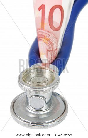 Stethoscope With Banknote