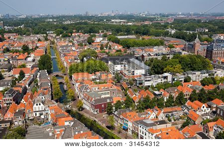 Delft City With Canal