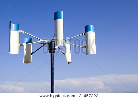 Small scale windmill to generate electricity