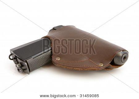 Pistol In A Holster