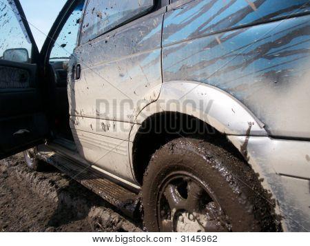 Sprayed Car With Dirt