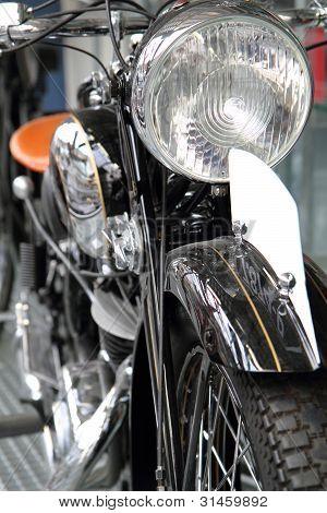 Detail Of Old Motorbike