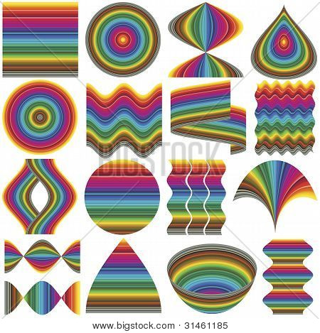 Set of fancy inventive vector elements