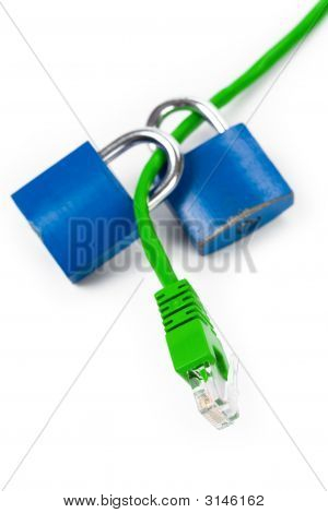 Lock And Network Cable