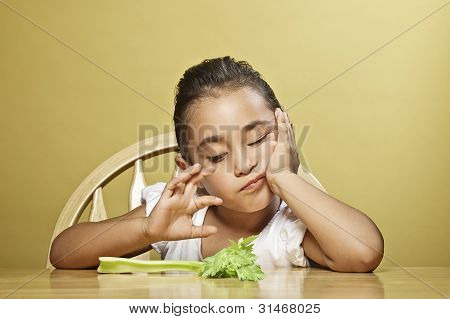 Little girl and her healthy snack