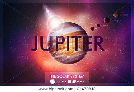 Vektor Sonnensystem Planeten Jupiter