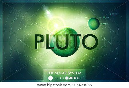 Vektor Sonnensystem Planeten Pluto