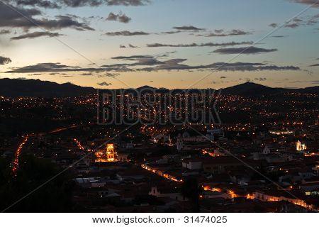 Sucre at Dusk, Bolivia
