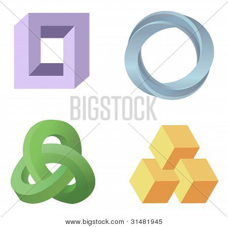 Optical Illusion Symbols Vector