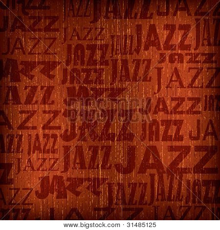 Abstract Background With Word Jazz