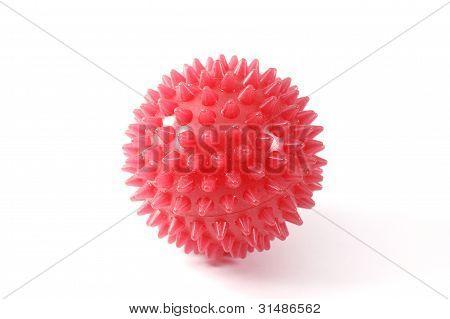 Red massage ball