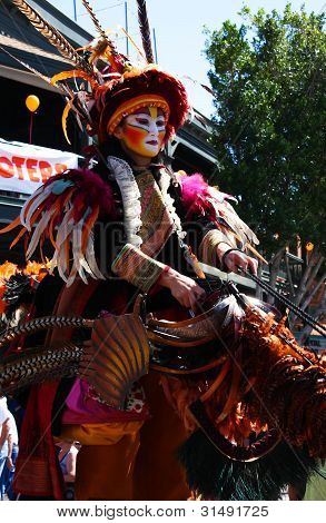 Stilt Puppet Entertainer During Tempe Festival Of The Arts
