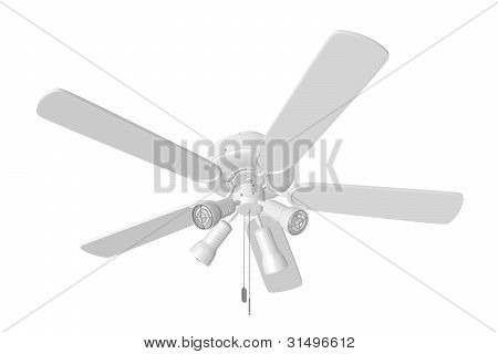 Isolated Ceiling Fan