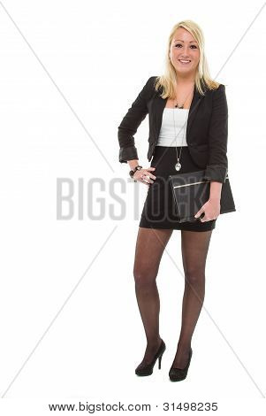 Business Woman With Portfolio