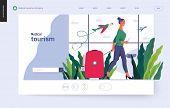 Medical Tourism - Medical Insurance Template -modern Flat Vector Concept Digital Illustration - A Yo poster