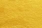 Concrete Gold Painted Texture Abstract For Background, Shiny Yellow Gold Texture Background poster