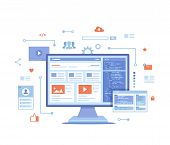 Web Development, Optimization, User Experience, User Interface In E-commerce. Website Layout Element poster