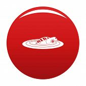 Sinking Car Icon. Simple Illustration Of Sinking Car Vector Icon For Any Design Red poster