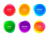 Round Colorful Vector Abstract Shapes. Color Gradient Round Banners, Creative Art And Graphic Design poster