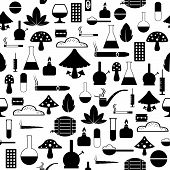 Drug Of Silhouette Vector Seamless Pattern Background Icon. poster