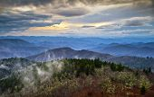 Blue Ridge Parkway Southern Appalachians Smoky Mountains Scenic Landscape Nc