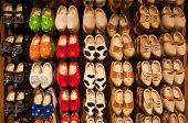 Dutch Wooden Shoes Wall Display