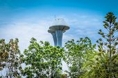 Water Tower. Water Towers, Generally Impounding Water In Residential Areas, Are Also An Important Pa poster