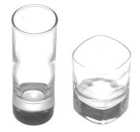 picture of shot glasses  - Small shot glasses isolated on a white background - JPG