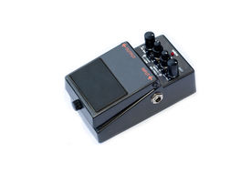 picture of ibanez  - isolated analog distortion rock guitar pedal black - JPG