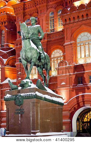 Georgy Zhukov Monument In Moscow