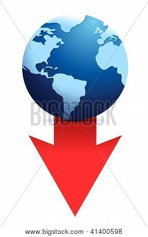 Downfall Earth Icon