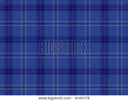 Blue Scottish Tartan