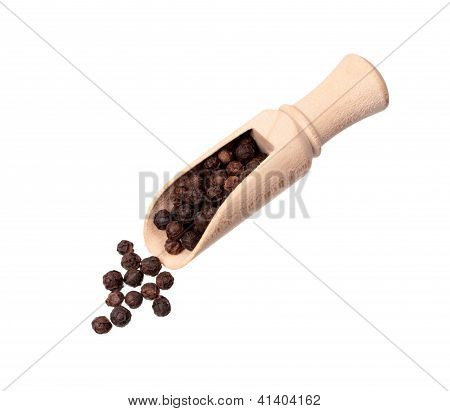Black Pepper In Shovel