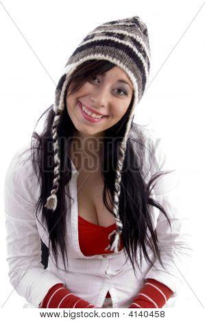 Woman Wearing Woolen Cap