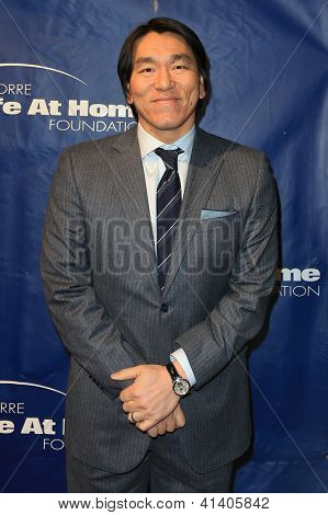 NEW YORK-JAN 24: Former MLB player Hideki Matsui attends the 10th Anniversary Joe Torre Safe At Home® Foundation Gala at Pier 60, Chelsea Piers on January 24, 2013 in New York City.