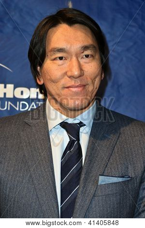 NEW YORK-JAN 24: Former MLB player Hideki Matsui attends the 10th Anniversary Joe Torre Safe At Home Foundation Gala at Pier 60, Chelsea Piers on January 24, 2013 in New York City.