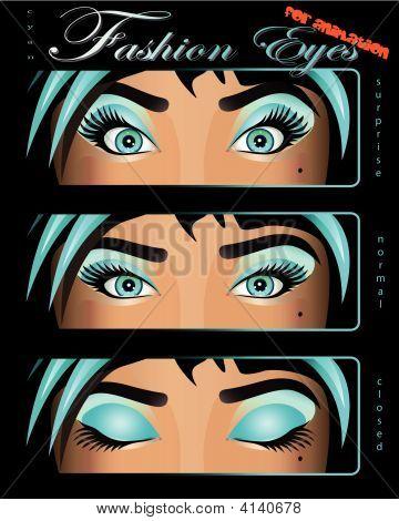 Fashion Girl Eye Catcher Eyes