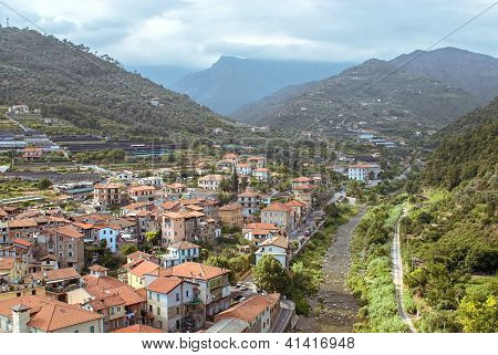Small Italian Town In Liguria